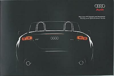 Audi TT Coupe & Roadster Brochure 2007/08 Pricing & Specification Guide 32 Pages