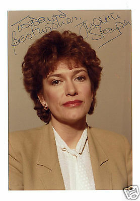 Judith Stamper BBC PresenterHand Signed Photograph 4 X 3 and Written Letter 1985