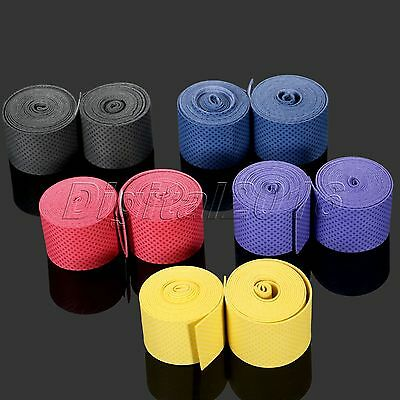 Anti-slip Absorb Sweat Tennis Squash Roll Overgrip Tape Bicycle Handlebar Wrap