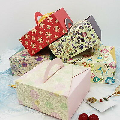 10pcs Colorful Box Wedding Party Candy Cake Gift Boxes Bright Flowers
