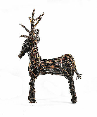 Large Hand Crafted Vine Reindeer Figure - Home Decor