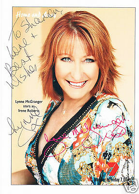 Lynne McGranger Channel 7 Home and Away Hand Signed Photograph 9 x 7