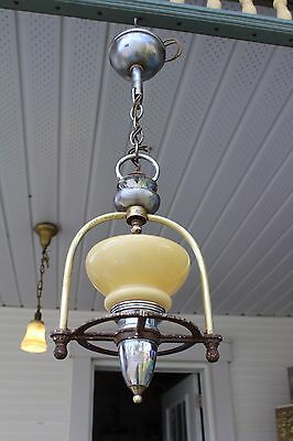 Art Deco Ceiling Light Fixture , Entry , Porch , Kitchen , Slip Shade