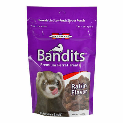 Marshall Bandits Premium Ferret Treat - Raisin Flavor - 3 oz