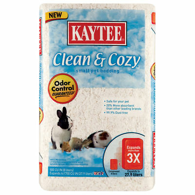 Kaytee Clean and Cozy Small Pet Bedding - 500 cu in - White