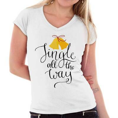 44033520277 Jingle all the Way Christmas Gifts Funny Shirts Gift Ideas Junior V-Neck Tee
