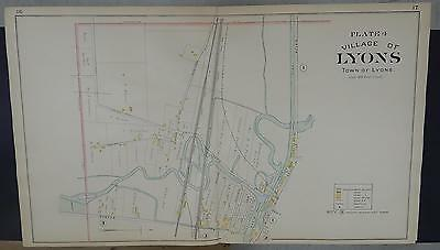 New York, Wayne County Map, 1904 Village of Lyons, Four Double Page Maps! Q3#37