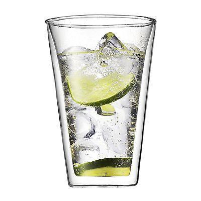Bodum CANTEEN Glass Set (Double-Walled 0.4 L/13.5 oz) Pack of 2 Transparent