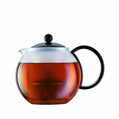 Bodum ASSAM Tea Maker (Plastic Strainer Plastic Lid 1.0 L/34 oz) Black