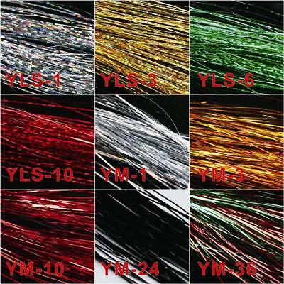 Fly Tying Material Fishing Lure Making Material Crystal Flash Craft 30cm 150pcs