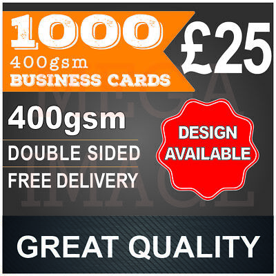 1000 Business Cards, FULL COLOUR, DOUBLE SIDED, FREE DESIGN, 24-48H DISPATCH