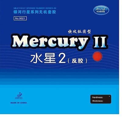 Yinhe( Galaxy ) Mercury 2 Table Tennis Rubbers ITTF approved from UK stock