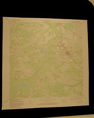 Crossville Tennessee vintage 1983 original USGS Topographical chart