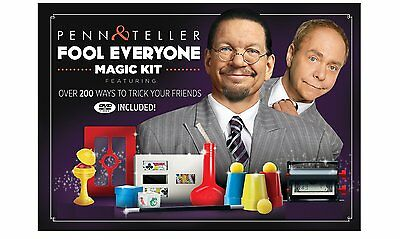 Penn & Teller Fool Everyone Magic Kit Over 200 Ways To Trick Your Friends + DVD