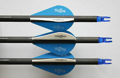 """10 X 31"""" Carbon Arrows For Compound Or Recurve Bow Target Archery New Sp400"""