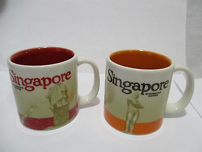 Singapore Starbucks Small Coffee Cups Red/Orange Color