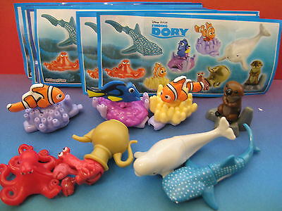 Disney Finding Dory Sd302-3-4A-5-6-7-8 Serie Completa + 8 Cartine   Kinder Itali