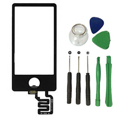 For iPod Nano 7th Gen 7 Black Digitizer Touch Screen Glass Repair Part w/ Tools