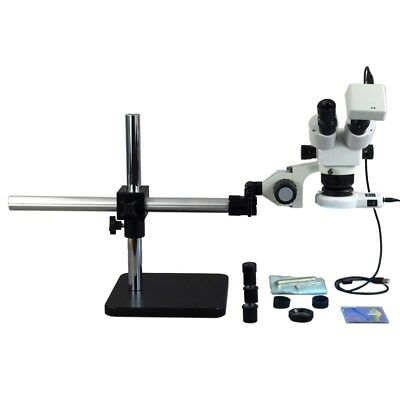 5X-80X Boom Stand ZOOM Stereo Microscope with 1.3MP Camera +54 LED Light