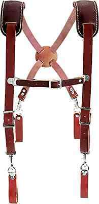 Leather Occidental 5009 Work Suspenders New Heavy Duty W Shoulder Pad