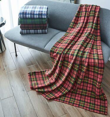 Soft & Warm Printed Fleece Blankets For Sofa Bed Travel Pet Blanket 3 Sizes