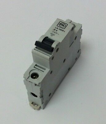 Mk 6 Amp Mcb B Type 6Ka Single Pole Ln5906 To Clear