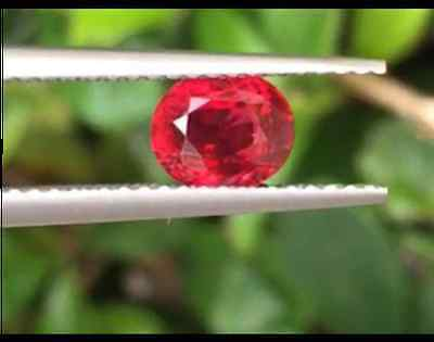 Ruby 1.06 ct GRS Certified *Vivid Red - Pigeon Blood NO HEAT Top Colour