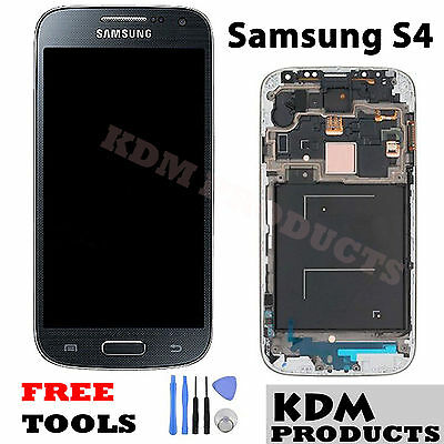 Samsung S4 Galaxy lcd i9505 digitizer screen replacement black, white & blue