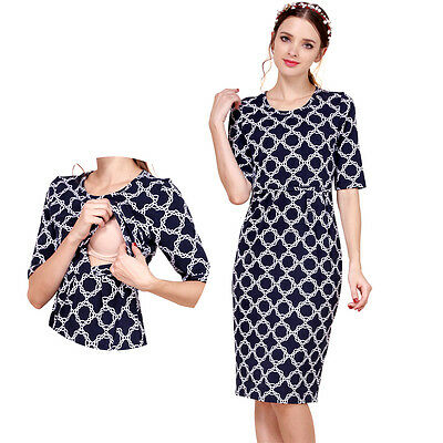 Summer Party Maternity Clothes Nursing Breastfeeding Dresses For Pregnant Women
