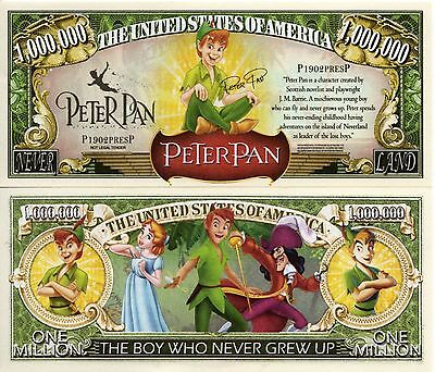 Peter Pan - Disney Movie Million Dollar Novelty Money