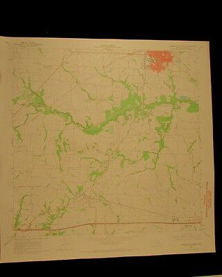 Commerce South Texas vintage 1968 original USGS Topographical chart