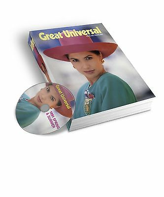 1990 Great Universal Spring Summer Mail Order Catalogue  Pdf & Jpeg On Dvd