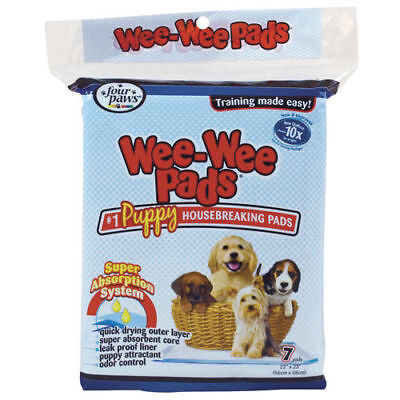 """Four Paws Wee-Wee Puppy Housebreaking Pads - 22"""" x 23"""" - 7 pk"""