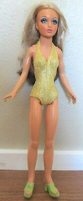 """Vtg 1974 IDEAL 18"""" Tiffany Taylor Doll~Chg Hair Color~Orig Outfit/Shoes/Pantsuit"""