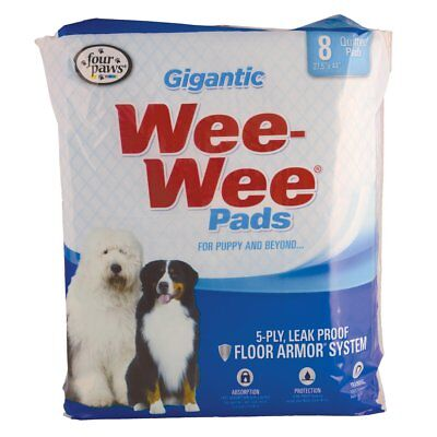 Four Paws Wee-Wee Gigantic Pads - 8 pk