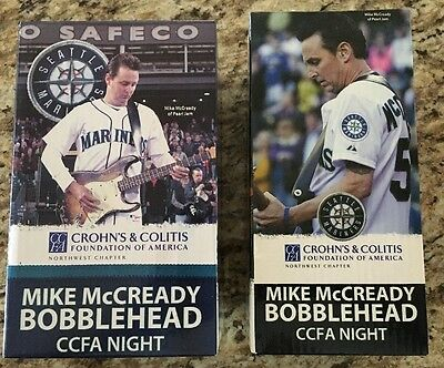 RARE Pearl Jam Mike McCready Bobbleheads Editions 2011 & 2013 Never Out Of Box