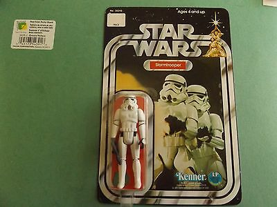 (1977 Vintage Star Wars 12 Back( Style A) Stormtrooper (Unpunched)Beauty !!
