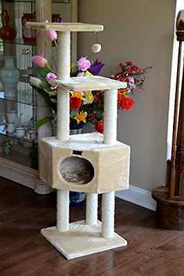 Cat Tree House Condo Furniture Post Pet Play Tower Scratching Kitten Deluxe Toy