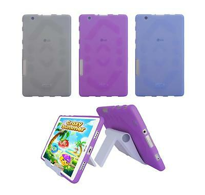 View Stand Holder + TPU Gel Skin Case Cover for LG G Pad X 8.0 V521 Tablet