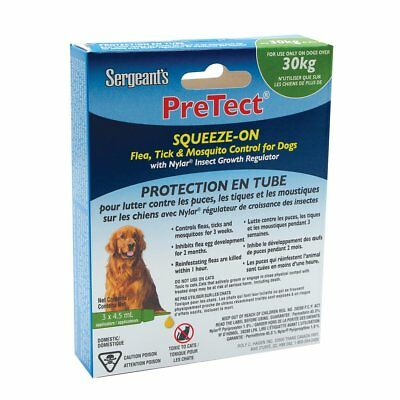 Sergeant's Pretect Squeeze-On Flea, Tick & Mosquito Control for Dogs - 30+ kg -