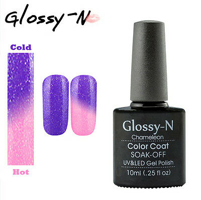 Glossy-N 10ML Thermal Chameleon Color Change UV LED Soak Off Gel Nail Polish 32