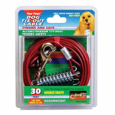 Four Paws Tie-Out Cable for Dogs - Medium Weight - 30 ft