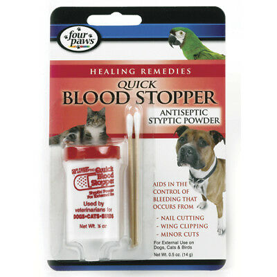 Four Paws Quick Blood Stopper Antiseptic Styptic Powder - 0.5 oz