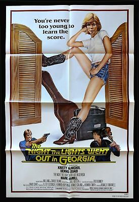 The Night The Lights Went Out In Georgia Original Folded Mint Movie Poster Quaid