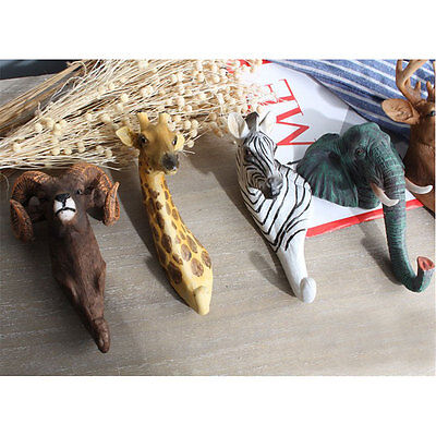 Animal Style Robe Hooks Clothes Shop Design Craft Head Coat Bag Hangers