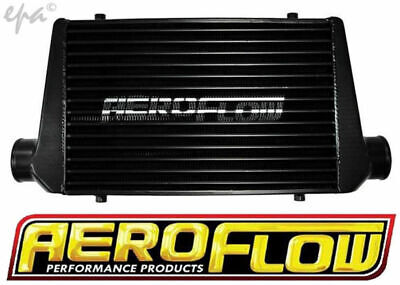 """Aeroflow 600x300x76 Alloy Intercooler Black finish with 3"""" Inlet Outlet"""