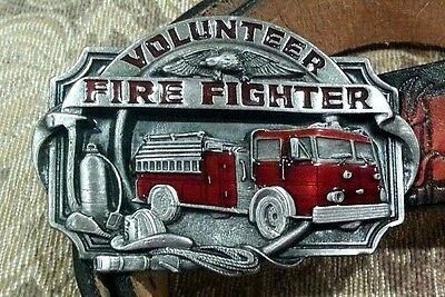 Volunteer Firefighter 1989 Siskiyou V-85-S Fire Truck Belt Buckle