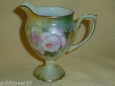 ANTIQUE RS PRUSSIA c. 1904 HP  TALL CREAMER RSP MARKED