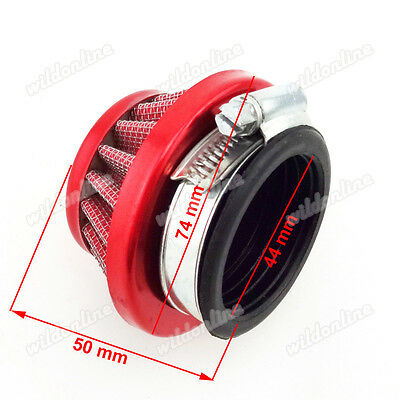 44mm Rot Luftfilter Für 47cc 49cc Mini Moto Kids ATV Quad Pocket Bike