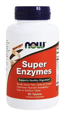 Super Enzymes 90 Tabs Now Foods Digestive Enzyme Health